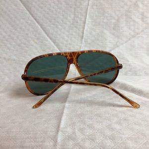 Vintage Accessories - Vtg Tortoise Shell Pattern Aviators
